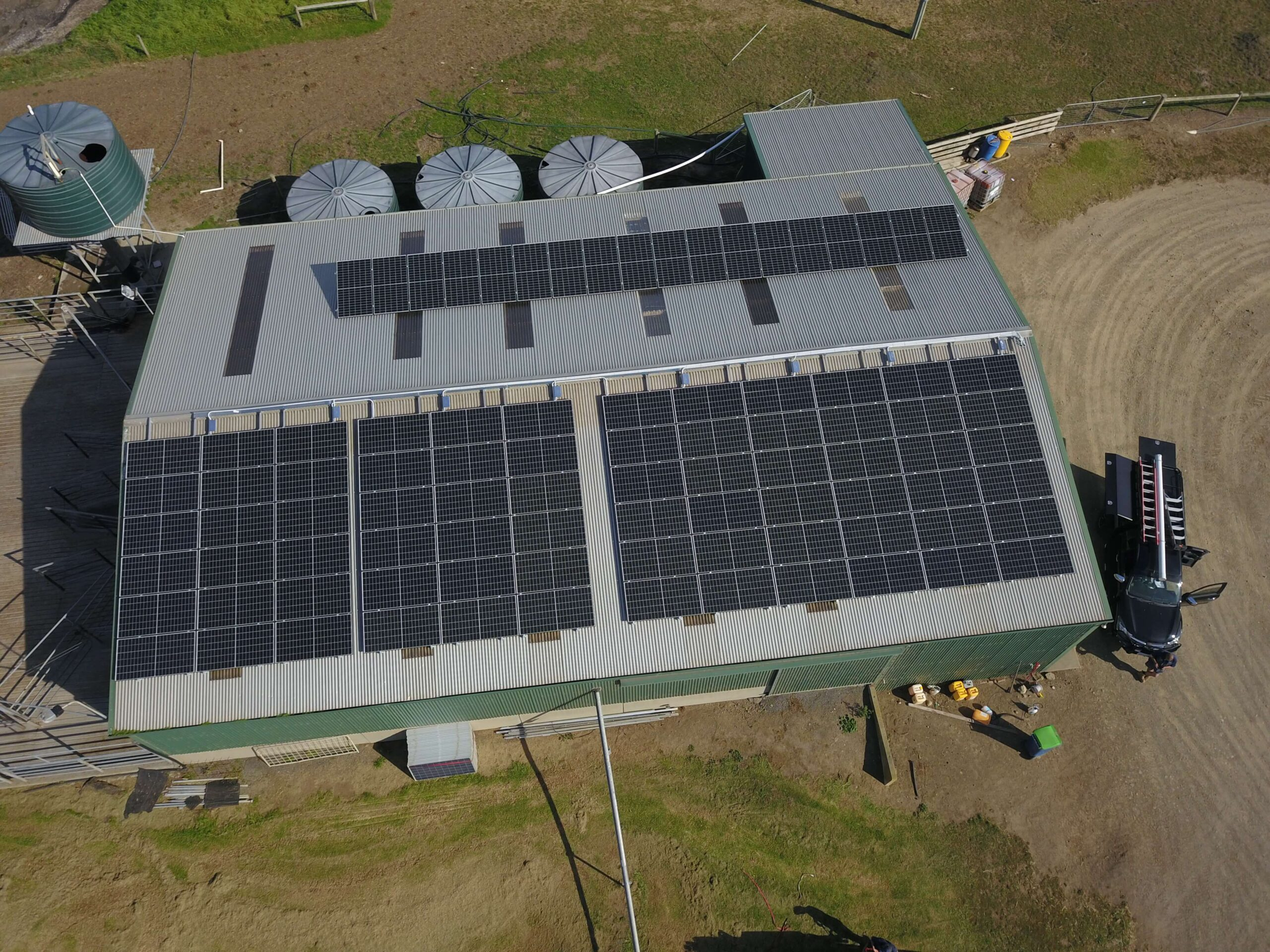 Shed Roof Solar Installation